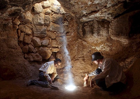 Jordanian Archaeologists have discovered a cave underneath the Saint Georgeous Church in Rehab