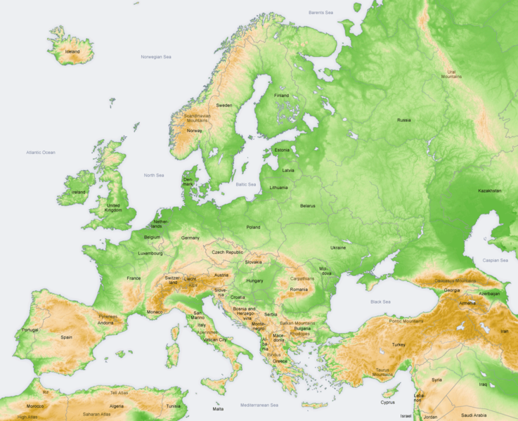 Geography Of Europe AdmaTravel - Ural river on world map